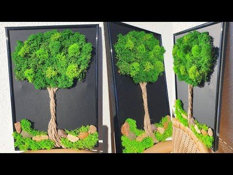 MOSS TREE DIY 3D Creative Idea 2021 - Easy Creative Lichen Ideas 2021 How to make STEP by STEP