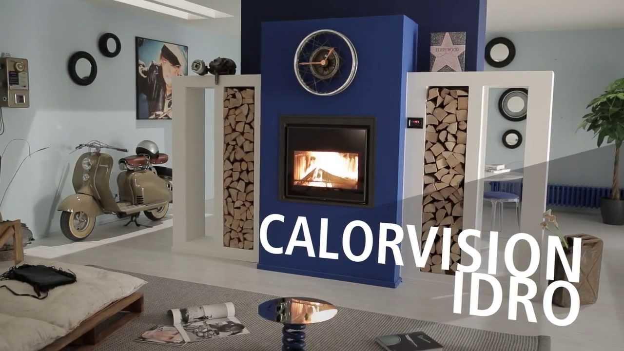 CALORVISION Idro / Caminetto caldaia a legna - YouTube