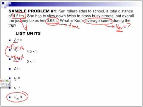 Average Speed Physics Part 2 YouTube