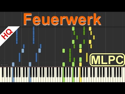 Wincent Weiss - Feuerwerk I Piano Tutorial and Sheets by MLPC