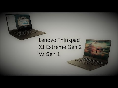 Lenovo ThinkPad X1 Extreme Generation 2 vs Generation 1 (Spec comparison)