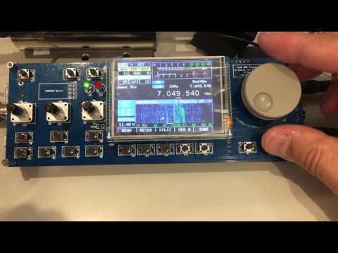 mcHF SDR QRP transceiver kit resceiving signal