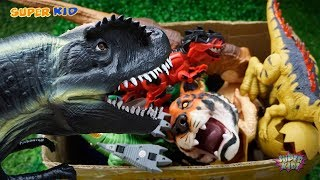 Open Toy Gift Box Funny Dinosaurs And Animals Toys In Box