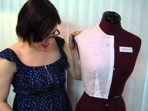 Crash Course in Fashion Design #10 Pattern Making, Part 3: Front Bodice Con't