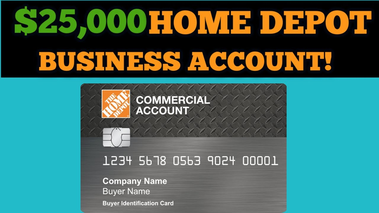 Home Depot Commercial Credit Card Approval! $6,6 No PG