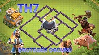 ¡¡TH7!! DISEÑO DE ALDEA PROTEGER ELIXIR OSCURO AYUNTAMIENTO NIVEL 7 ( CLASH OF CLANS) %WIMERS%