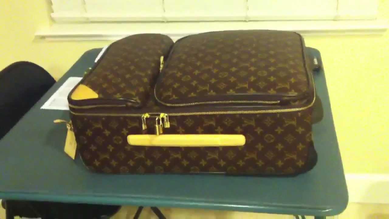a466e3a882 Louis vuitton rolling luggage pegase 55 business - YouTube