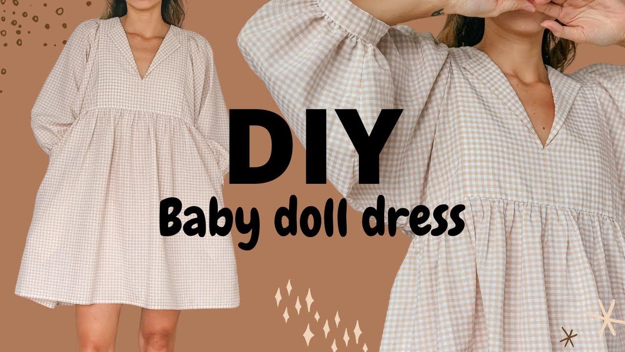 DIY BABY DOLL DRESS   Beginner friendly sewing tutorial