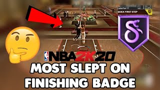 SLITHERY FINISHER HAS CHANGED THE WAY MY SLASHER DUNKS - MOST UNDERRATED FINISHING BADGE IN NBA 2K20