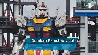 Gundam RX fue construido con aluminio, pesa 25 toneladas y mide en total 20 metros de altura