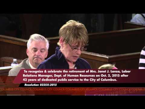 Columbus City Council Meeting  September 28, 2015