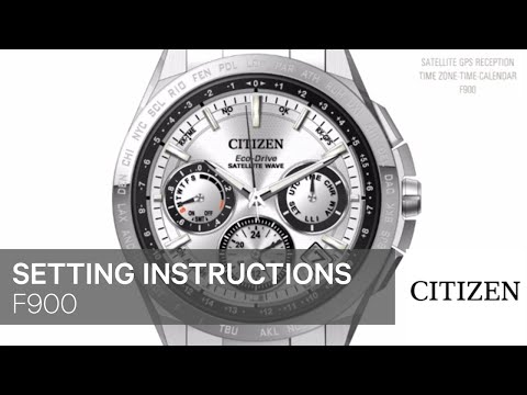 OFFICIAL CITIZEN SETTING INSTRUCTIONS: F900