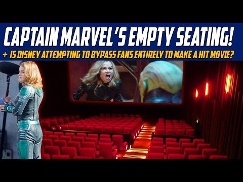 Captain Marvel's Empty Seating - Is Disney Attempting To Bypass Fans Entirely To Make A Hit Movie?