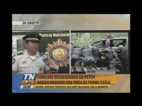 150 familias fueron desalojadas en Petén