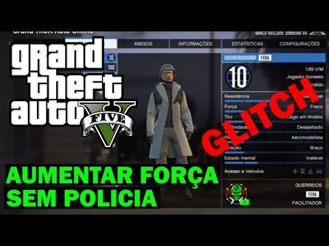 GTA V ONLINE GLITCH AUMENTANDO FORÇA e RESISTENCIA HABILIDADE SEM POLICIA COMEÇANDO BEM no GTA #8