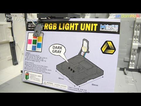 모델링 도구 리뷰 - [손과머리] RGB LIGHT UNIT (Dark Gray)