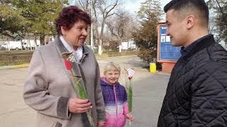 Мэр города Кара-Балта Данияр Шабданов поздравляет с 8 МАРТА.