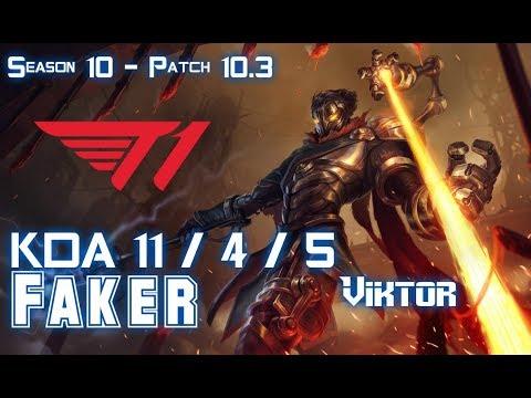 T1 Faker VIKTOR vs KARTHUS Mid - Patch 10.3 KR Ranked