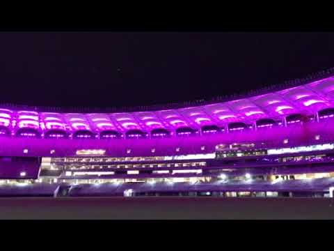 Perth Stadium lighting testing commences & Perth Stadium lighting testing commences - YouTube