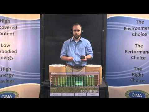 Cellulose Insulation - Sound Proofing Demonstration