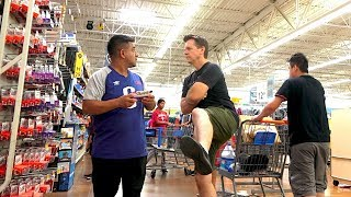 Farting at Walmart - The Pooter - Man confronts guy for farting!
