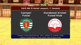 NBII: Csenger Futsal - Dunakeszi Kinizsi 3-4 (2017.10.16, összefoglaló)