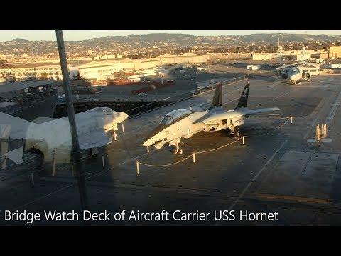 Bridge Watch Deck of Aircraft Carrier USS Hornet
