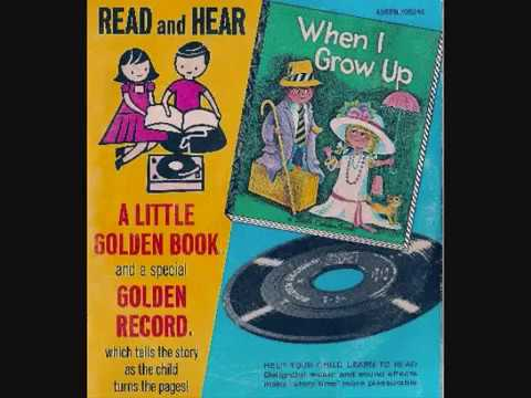 """Classic Golden Books- """"When I Grow Up"""" Book And Record Set"""