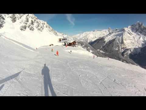 Skiing in Chamonix - France winter 2013
