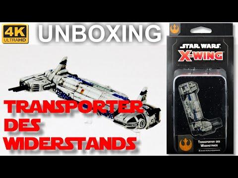 Star Wars X-Wing 2. Edition:Transporter des Widerstands - WELLE 4 - Unboxing (4K)