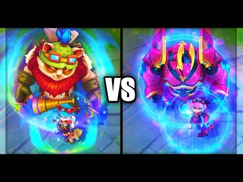 Annie Versary vs Super Galaxy Annie Skins Comparison (League of Legends)