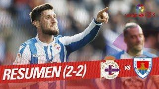 Resumen de RC Deportivo vs CD Numancia (2-2)