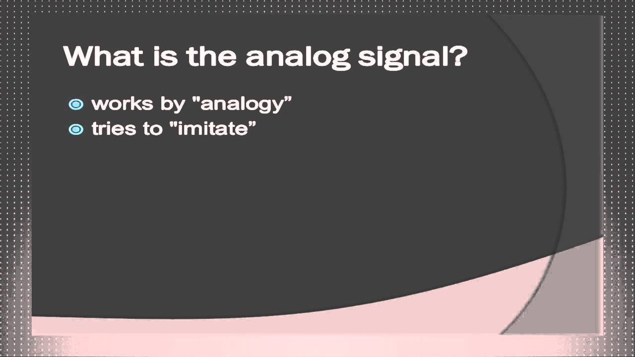 What is an analog