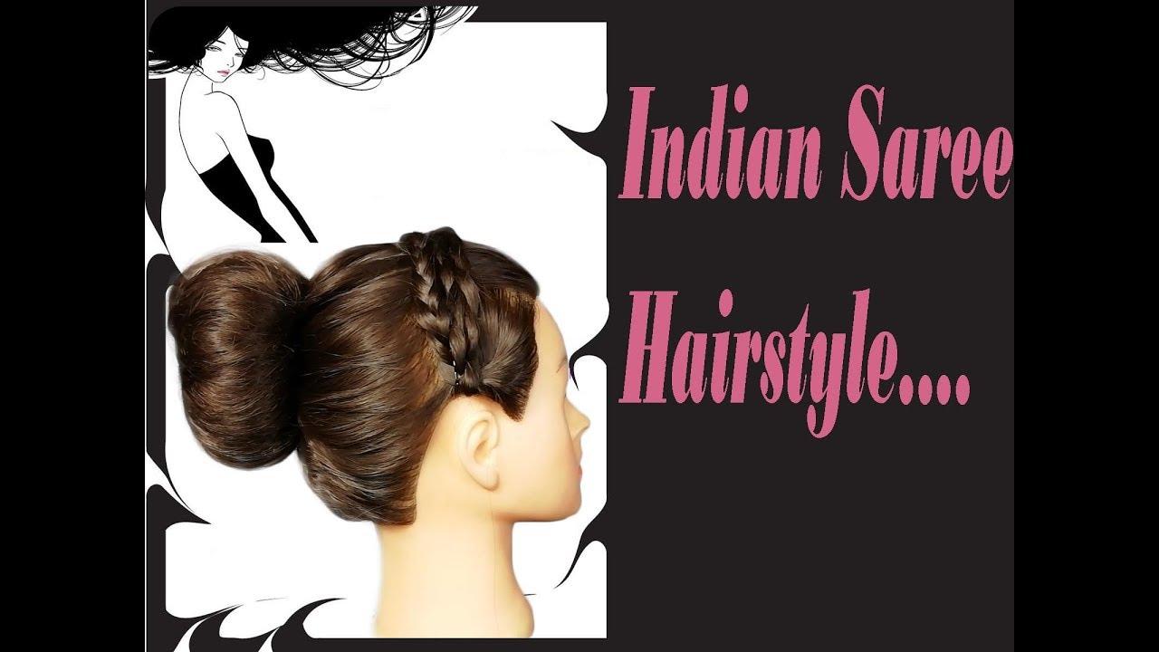 indian saree hair style - youtube