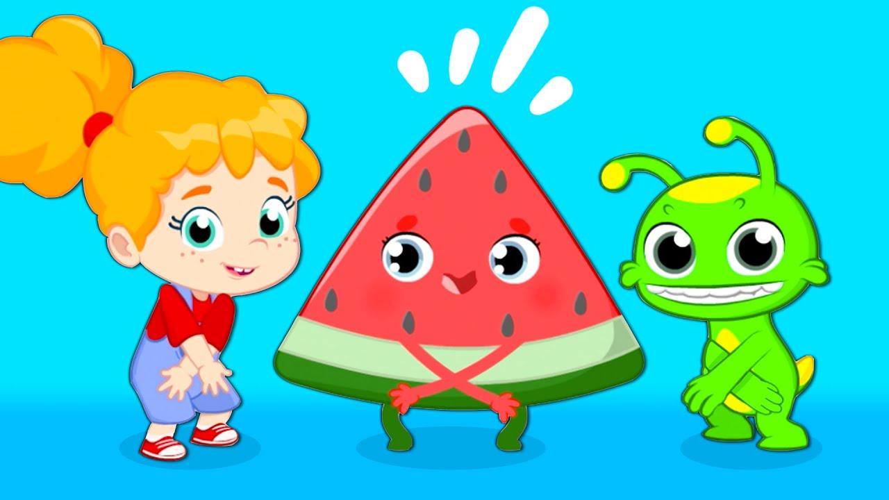 NOUVELLE CHANSON! Groovy Le Martien chante Les fruits c'est chouette chanson   Rimes pour enfants