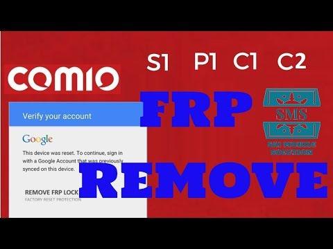 COMIO C1| COMIO C2| COMIO P1| COMIO S1| FRP LOCK | GOOGLE ACCOUNT