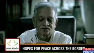 Aman ki Asha  Gulzar recites poem for Mehdi Hasan.wmv