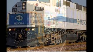 Metrolink EMD F59PH Locomotive SCAX #856 railfanning (Watch in high quality)