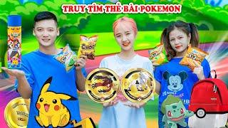 Truy Tìm Thẻ Bài Pokemon Giải Cứu Pikachu - Phim Hài Táo Xanh TV