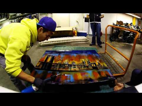 Applying Epoxy to Canvas Painting