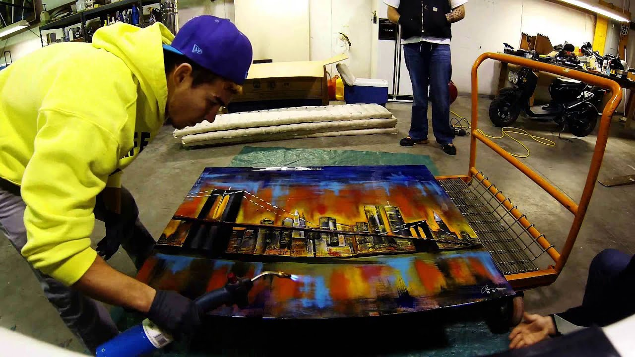 Epoxy Painting Canvas : Applying epoxy to canvas painting youtube