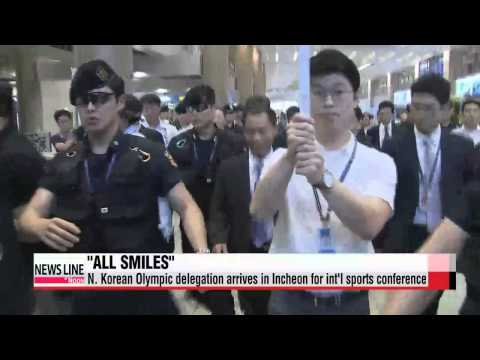 N. Korean Olympic delegation arrives in S. Korea for int′l conference   북한 올림픽대표