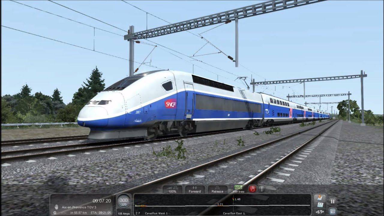 train simulator 2016 hd ligne grande vitesse marseille avignon tgv duplex released preview. Black Bedroom Furniture Sets. Home Design Ideas