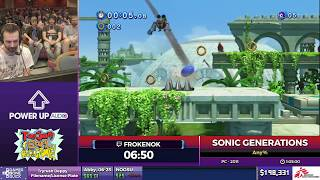 Sonic Generations by Frokenok in 59:04 - SGDQ2017 - Part 26
