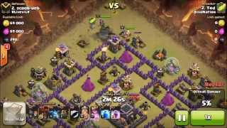 Attack 1 | LAVALOONION ATTACK TH 9 | 3 Star Strategy | Clash of Clans | Clan Wars