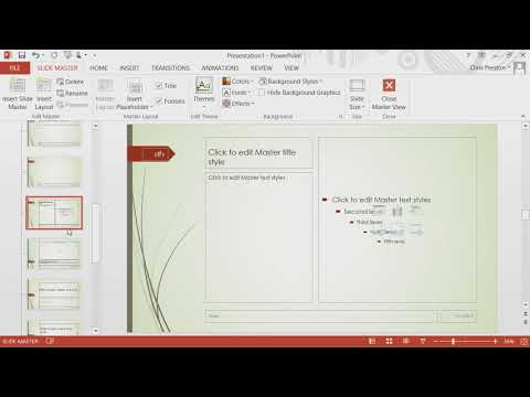 Microsoft PowerPoint 2013 - Module 6:  Lay Out the Training Deck