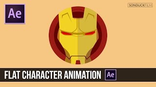After Effects Tutorial: Flat Character Animation - Iron Man
