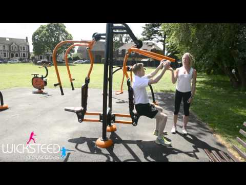 Pull Down Exerciser - Outdoor Fitness Equipment