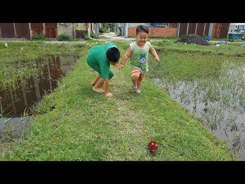 Trò Chơi Bé Pin Đồng Cỏ Xanh ❤ ChiChi ToysReview TV ❤ Đồ Chơi Trẻ Em Baby Doli Fun Song Bài Hát Vần