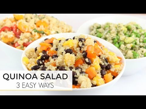 3 Easy Healthy Quinoa Salad Recipes   Just 5 Ingredients